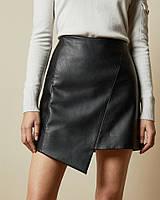 Модная кожаная женская юбка из экокожи короткая Nimfeya (размер XS S M L XL XXl 40 42 44 46 48 50) 52