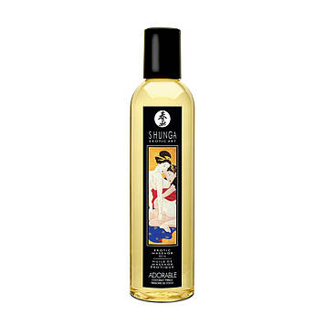 Масажне масло Shunga Adorable - Coconut thrills (250 мл) натуральне зволожуючий SO3342 код