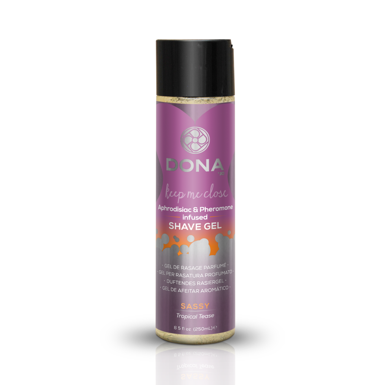 Гель для бритья DONA Intimate Shave Gel: Sassy Tropical Tease (250 мл) с феромонами и афродизиаками SO2098
