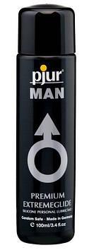 Густая силиконовая смазка pjur MAN Premium Extremeglide 100 мл с длительным эффектом, экономная