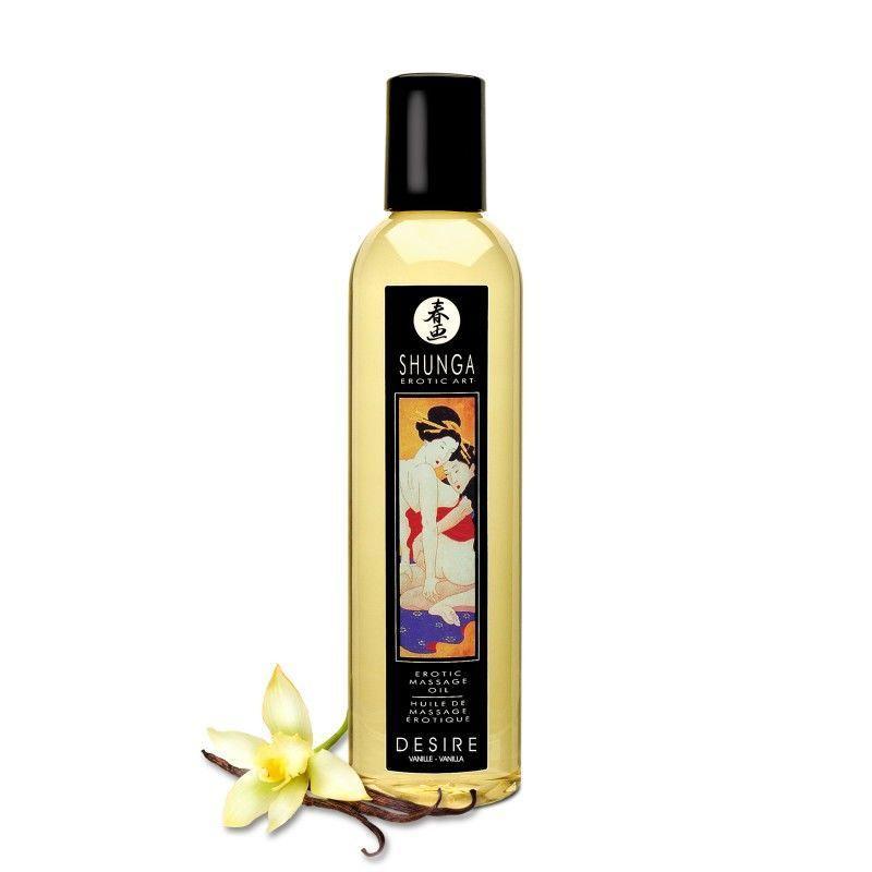 Масажне масло Shunga Desire - Vanilla (250 мл) натуральне зволожуючий SO2870