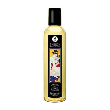 Масажне масло Shunga Serenity - Monoi (250 мл) натуральне зволожуючий SO2875 код