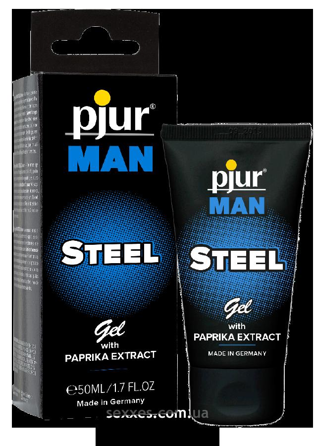 Гель для пениса стимулирующий pjur MAN Steel Gel 50 ml с экстрактом паприки и ментолом PJ12910 код