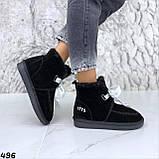 Угги женские черные 496, фото 4