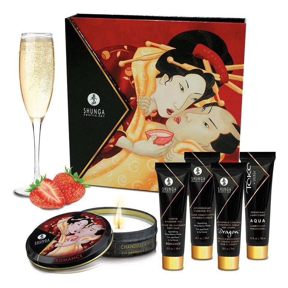 Подарочный набор Shunga GEISHAS SECRETS - Sparkling Strawberry Wine: для шикарной ночи вдвоем SO2557 код