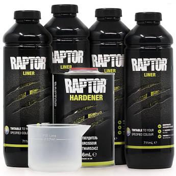 Захисне покриття підвищеної міцності (фарба) U-POL RAPTOR™, 4 л Комплект Чорний