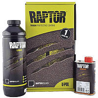 U-POL RAPTOR™ Захисне покриття підвищеної міцності (фарба), 1 літр Чорний