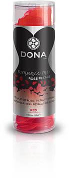 Декоративные лепестки розы DONA Rose Petals Red, многоразовые, не вянут