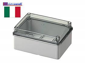 Коробка распределительная IP56 150x110x70 Elettrocanali EC420C5 (настенная с прозрачной крышкой)