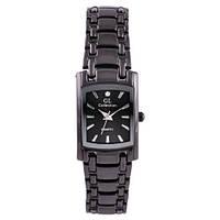 Часы наручные кварцевые женские на браслете GL Collection 1067 L квадрат, черный