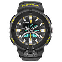 Часы мужские спортивные наручные  C-SHOCK GA-500 Black-Yellow
