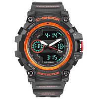 Часы мужские спортивные наручные  C-SHOCK GG-1100 Black-Orange
