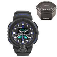 Часы мужские спортивные наручные  C-SHOCK GA-500 Black-Blue, Box