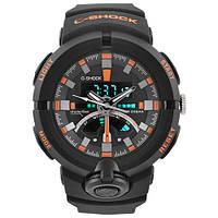 Часы мужские спортивные наручные  C-SHOCK GA-500 Black-Orange