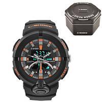 Часы мужские спортивные наручные  C-SHOCK GA-500 Black-Orange, Box