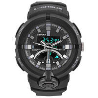 Часы мужские спортивные наручные  C-SHOCK GA-500 Black-Silver