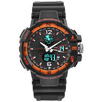 Часы мужские спортивные наручные  C-SHOCK GWA-1100 Black-Orange