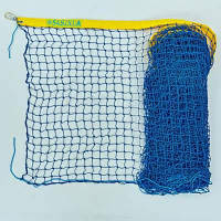 Сетка большой теннис Любительская SO-2327 (d-3мм, р-р 12,8x1,08м, ячейка 4,5см, метал. трос., черный-белый)
