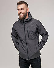 Еко-куртка чоловіча SoftShell Сірий-меланж