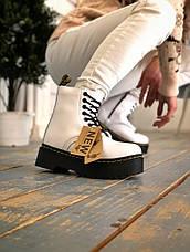 Женские зимние ботинки в стиле Dr. Martens Jadon White с мехом, фото 3