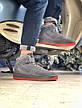 Мужские зимние кроссовки Nike Air Force серого цвета (Реплика AAA+), фото 5