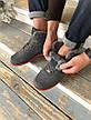 Мужские зимние кроссовки Nike Air Force серого цвета (Реплика AAA+), фото 4