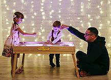 Световой стол-трансформер для рисования песком 100х60 см Ясень Tia-Sport, фото 2