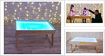 Световой стол-трансформер для рисования песком 100х60 см Ясень Tia-Sport, фото 3