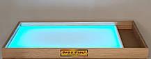Световая песочница 100х60 см с отсеком для игрушек Ясень Tia-Sport, фото 2
