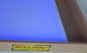 Световая песочница 70х50 см Ольха разноцветная подсветка с отсеком для игрушек Tia-Sport, фото 2