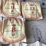 Бодики с цифрами на каждый месяц до года 14. Размер 1, 2, 3 мес, 4, 5,6, 7, 8 мес, 9, 10 мес, 11, 12 мес, фото 4