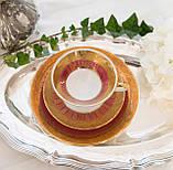 Немецкая чайная тройка, фарфоровое чайное трио, фарфор, Германия, J.Kronester, 60-е, фото 3