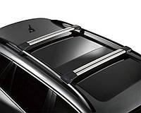 Багажник на рейлинги с замком хром