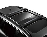 Багажник на рейлинги с замком черный