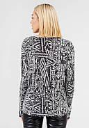 Женский свитер с геометрическим принтом Bessa 6501-XL, фото 2