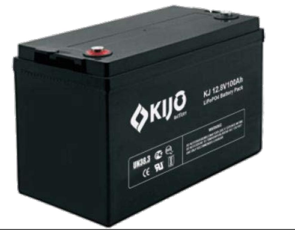 Літієвий акумулятор 100 Ач 12.8 В KIJO 12-100D LiFePo4