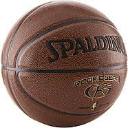 Мяч баскетбольный Spalding Rookie Gear Indoor-Outdoor  Basketball оригинал размер 5 композитная кожа, фото 2