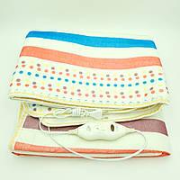 Электропростынь электро грелка электрическая простынь одеяло с сумкой electric blanket 120*150 см 86 Вт, фото 1