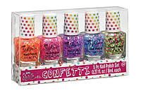 Набор из пяти лаков для ногтей «Цветное конфетти»