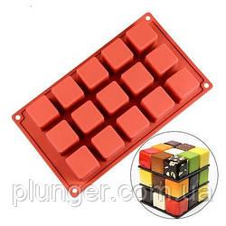 Форма силіконова для випічки 15 кубиків