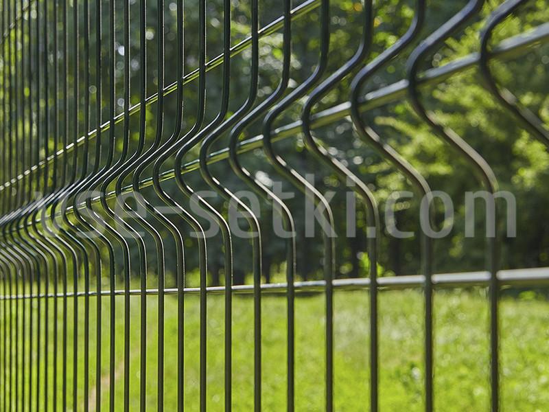 Заборная секция ЭКОНОМ цинк+ППЛ. Высота 2 м, длина 2,5м.