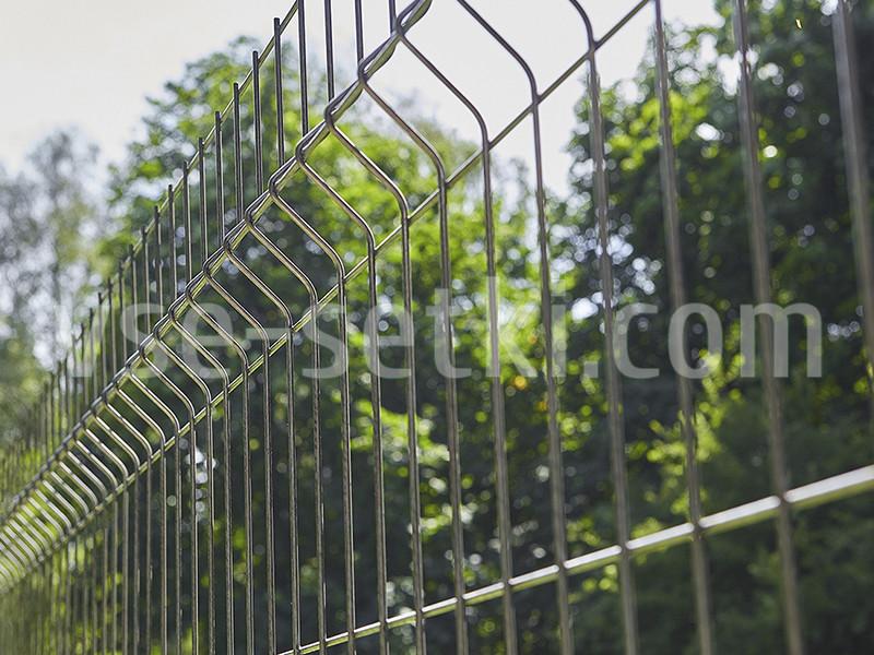 Заборная секция ЭКОНОМ цинк. Высота 2 м, длина 2,5м.