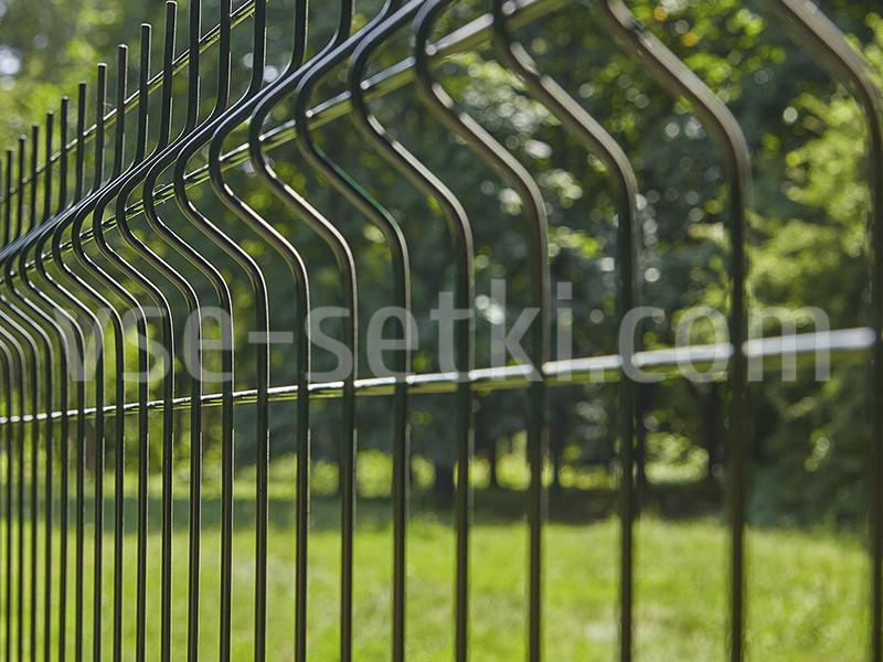 Заборная секция СТАНДАРТ цинк+ППЛ. Высота 2.4 м, длина 2,5м.