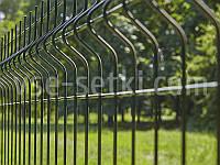 Заборная секция СТАНДАРТ цинк+ППЛ. Высота 1.5 м, длина 2,5м.