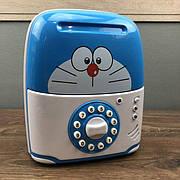 Детский сейф копилка Saving Box для денег голубой кот огги с кодом для детей ребенка музыкальная игрушка