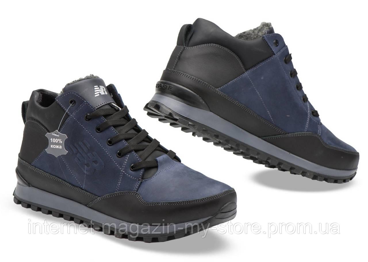Мужские кожаные зимние ботинки NB