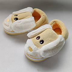 Детские тапочки тапки теплые комнатные для дома для мальчика домашние собачки желтые 24/25р 14.5-15см