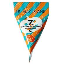 Ночная маска для лица с экстрактом и маслом семян тыквы May Island 7 Days Secret Healing Pumpkin Sleeping Pack