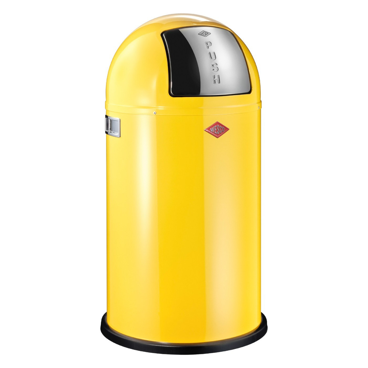 Мусорный бак Wesco Pushboy 50 литров, нержавеющая сталь, лимонно-желтый (175831-19)