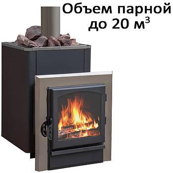 Печь банная,c выносом, стеклянная дверь, черн. PAL-20KSIL (20кВт)